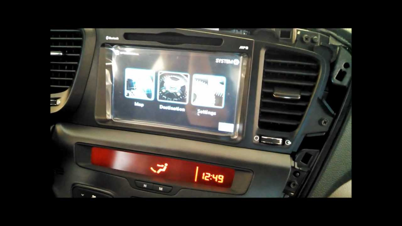 How to Install UNAVI Factory Navigation System in KIA Optima YouTube – Kia Optima Wiring Harnes