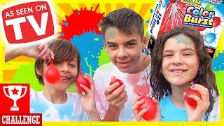 COLOR COMBAT WATER BALLOONS FIGHT! Water Toys Family Fun Outdoors Activities for Kids |  KITTIESMAMA