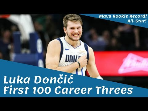 Luka Dončić FIRST 100 CAREER THREES! MAVS ROOKIE 3-POINT RECORD!