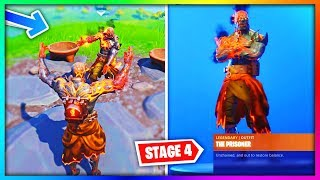 ÉTAPE 4 Prisonnier UNLOCKED! (The Prisoner Skin MAXED Exact Key Location Fortnite)