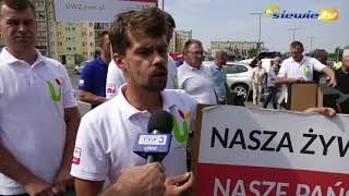 KAPUŚCIANY PROTEST ROLNIKÓW Z UNII WARZYWNO ZIEMNIACZANEJ W SIERADZU - siewie.tv
