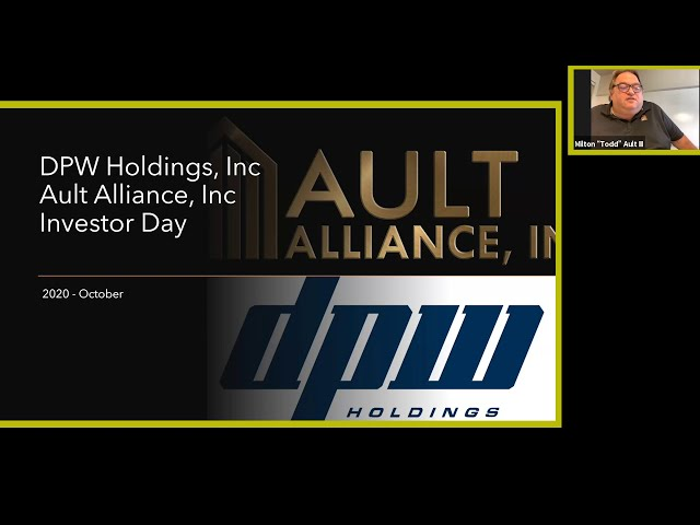 DPW's Second Annual Investor Conference 2020 Ault Alliance Presentation