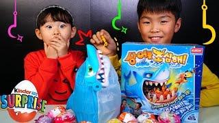 라임 상어를 조심해! 정우 몰카에 당하다? 복불복 보드게임 챌린지 서프라이즈에그 장난감 놀이 Игрушки LimeTube & Toy