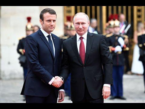Прибытие лидеров в Елисейский дворец.Путин.Зеленский.