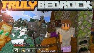 Starter Base Setup & Solo Raid Battle! - Truly Bedrock - S1 E1 - Minecraft SMP [1.11]