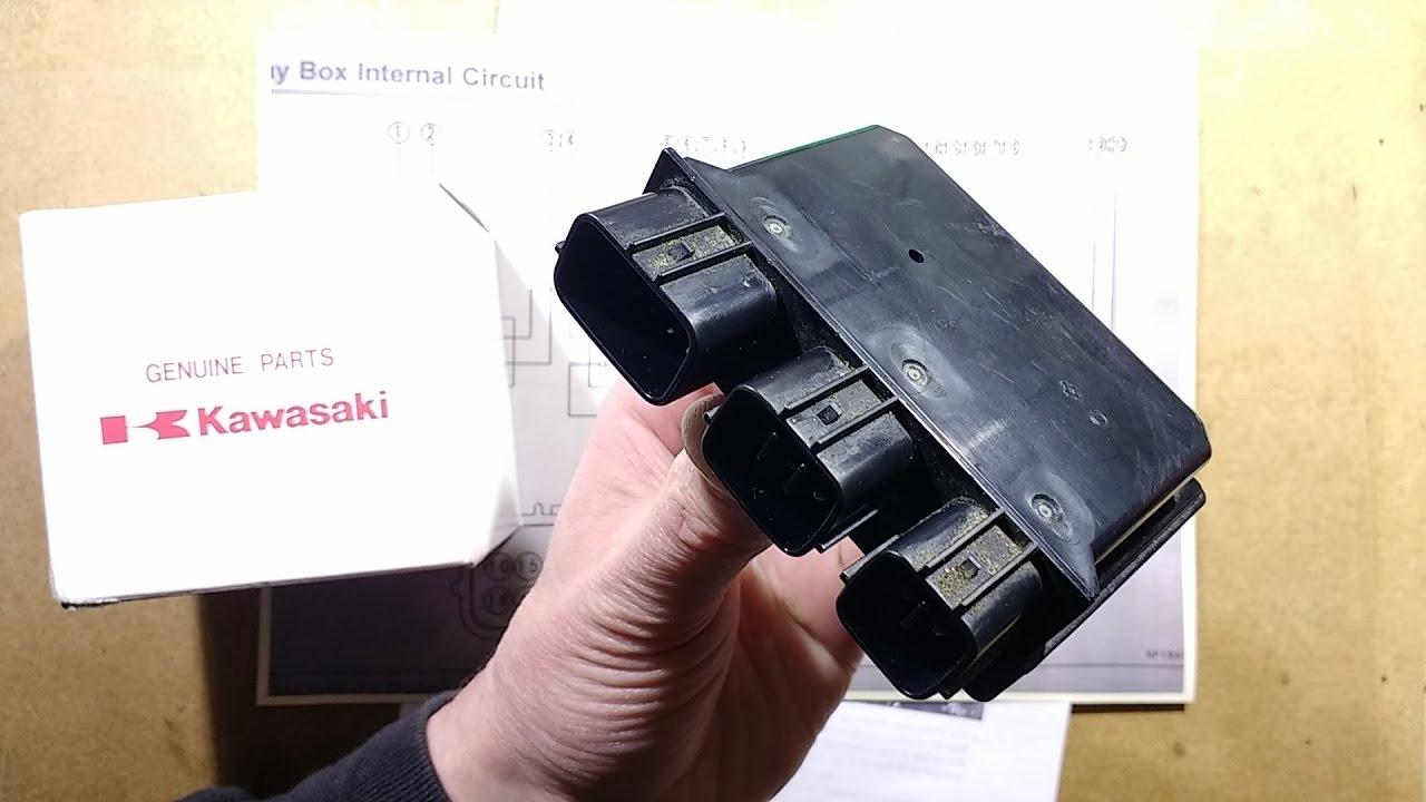 autopsy of kawasaki relay box  [ 1280 x 720 Pixel ]