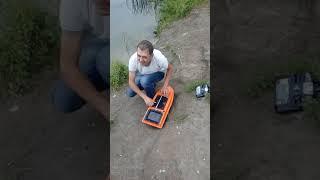 Кораблик для рыбалки с уменьшеным корпусом. №1