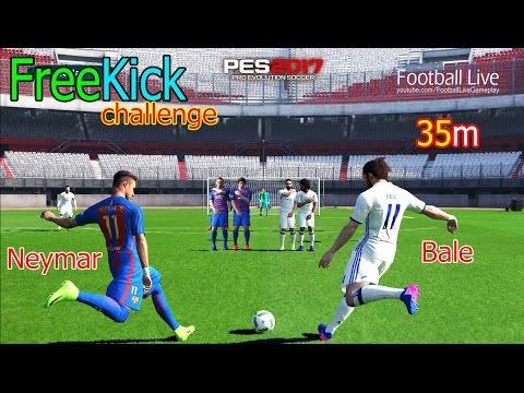 PES 2017 | Free Kick Challenge from 35m | NEYMAR JR vs GARETH BALE #2