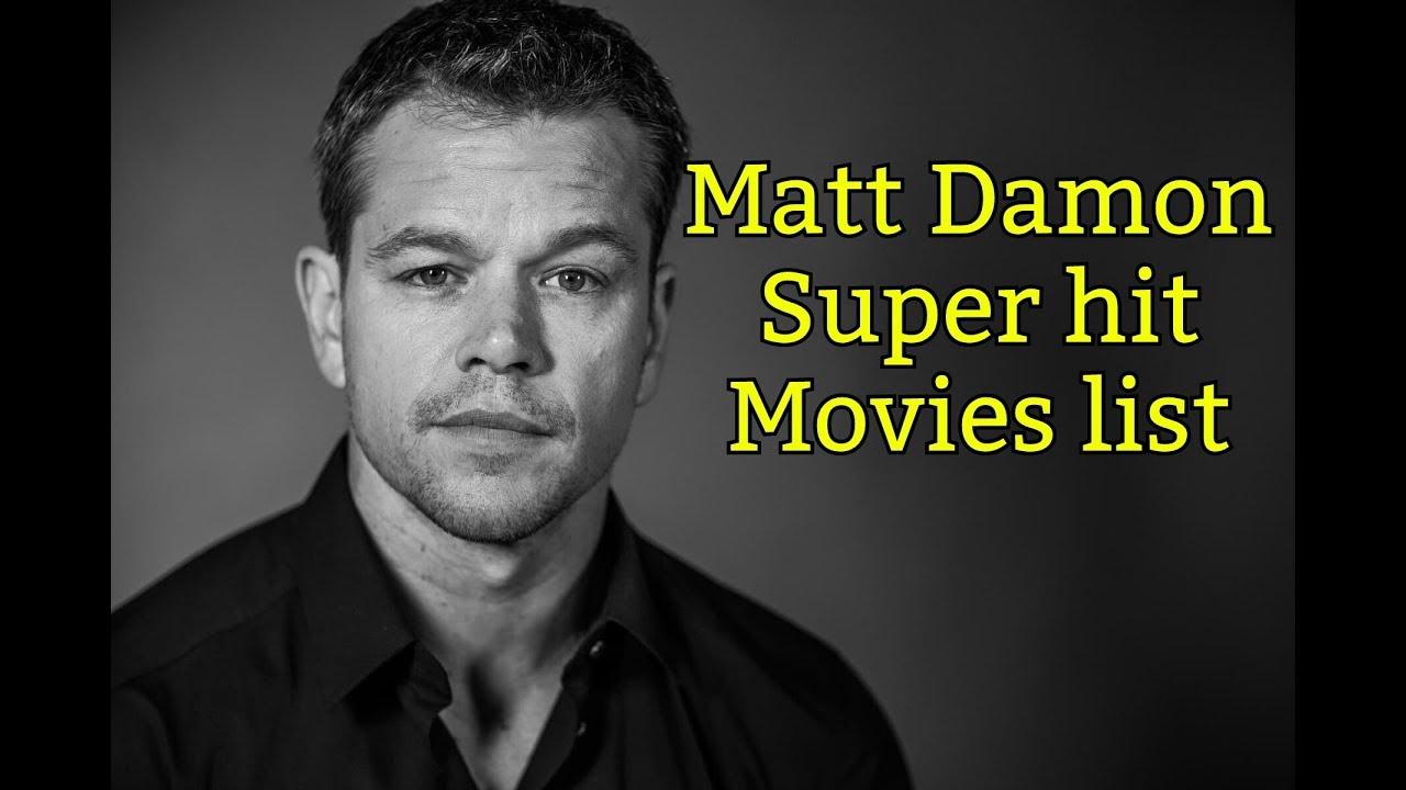 Matt Damon movies Hit List - YouTube