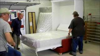 Florida Sofa And Murphy Bed  White Lacquer.wmv