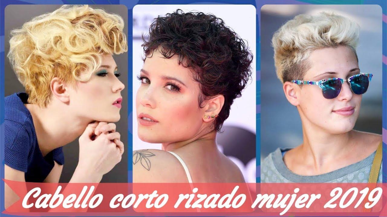 20 Ideas De Peinados Para Cabello Rizado Corto Mujer 2019 Youtube