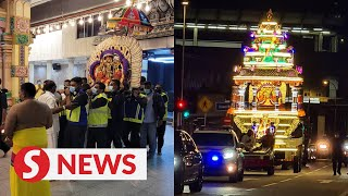 Thaipusam: Silver Chariot arrives at Nattukotai Chettiar Temple in Penang under strict SOP
