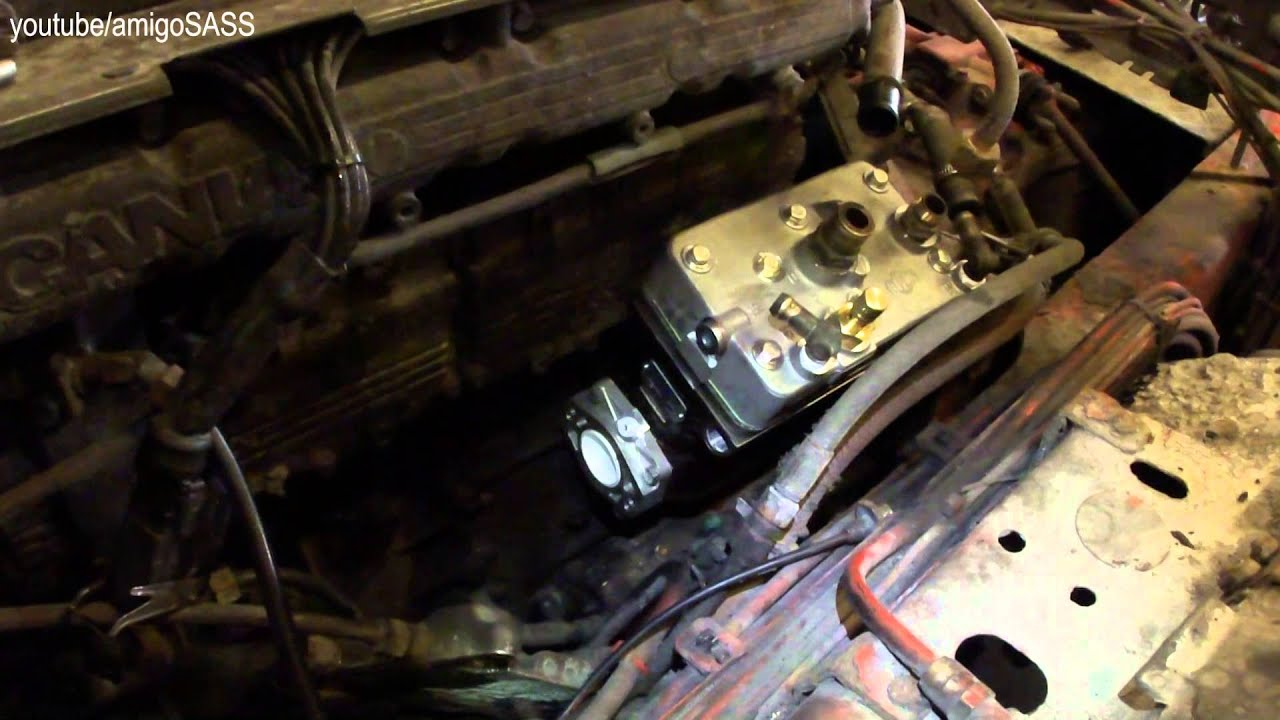 Установка компрессора Scania truck compressor installation