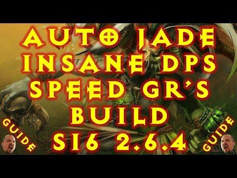 Diablo 3 S16 Auto Jade Speed Witch Doctor Build  2.6.4