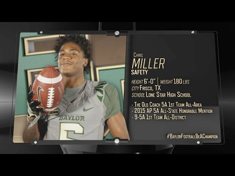 Baylor Football: 2016 Signing Class - Chris Miller