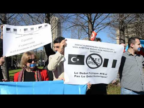 USAN/USTN and ATA-Houston protest in front of the French Embassy