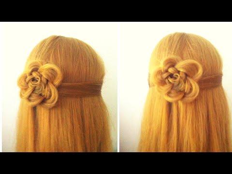 Fiore con i capelli | Acconciatura per le feste | Treccia di Chiara