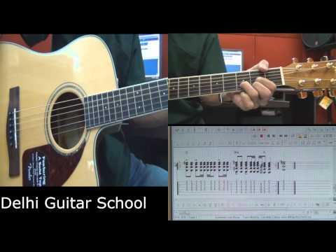 ummeedon wali dhoop - Guitar Lesson (with onscreen Tab) - Delhi Guitar School