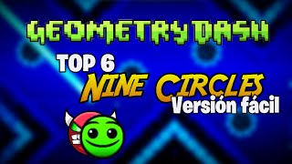 TOP 6 Niveles Nine Circles If Was LVL1 - Versiones fáciles -(Geometry Dash)