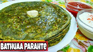 Bathua paratha with potato stuff/ Very Delicious healthy bathua paratha recipe *By Zaika e lucknow *