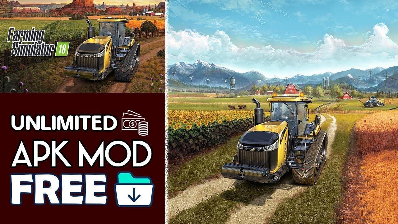 Download Farming Simulator 18 Apk Mod OBB For Android 2018  #Smartphone #Android