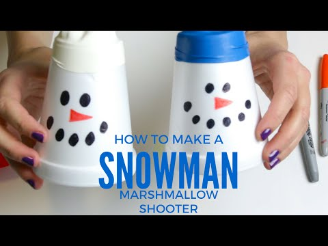 How To Make Snowman Marshmallow Shooter Mp4