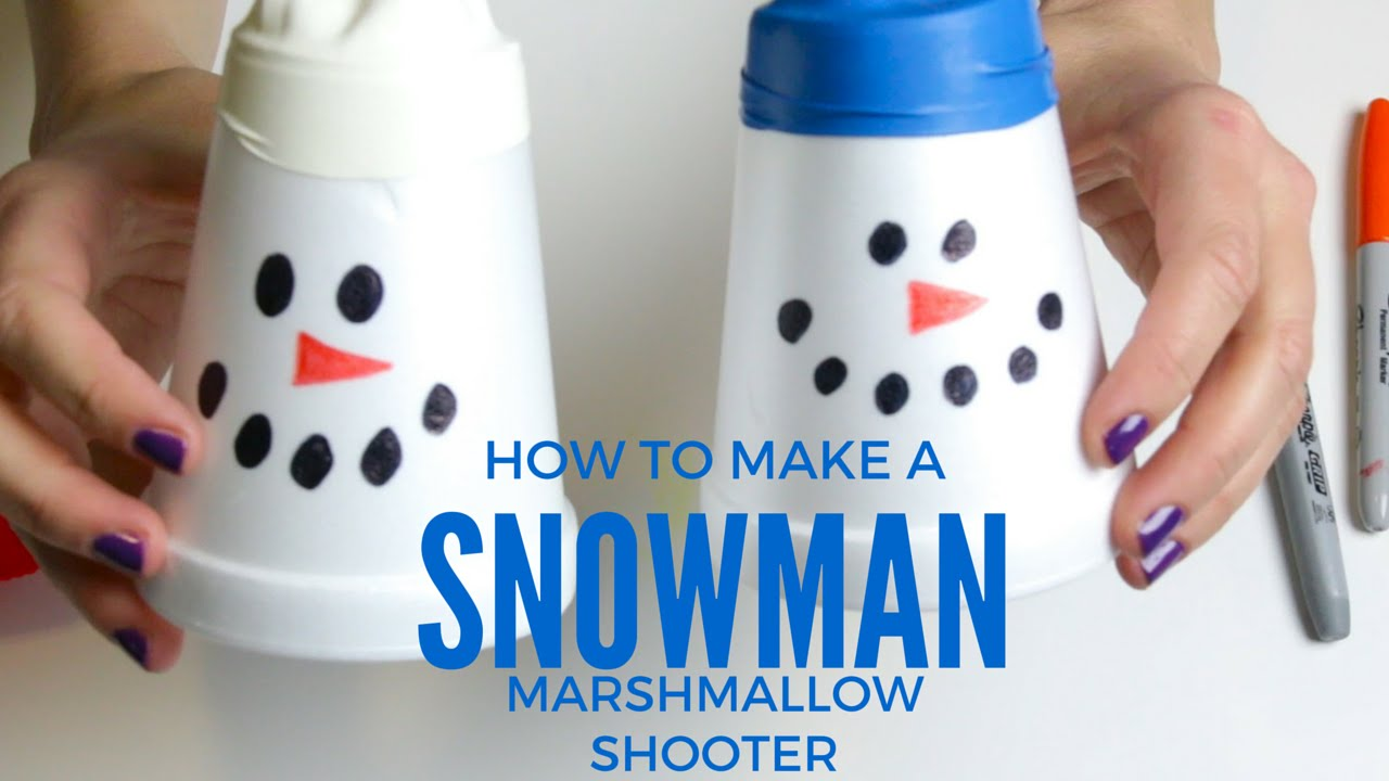 how to make a snowman marshmallow shooter mp4 youtube