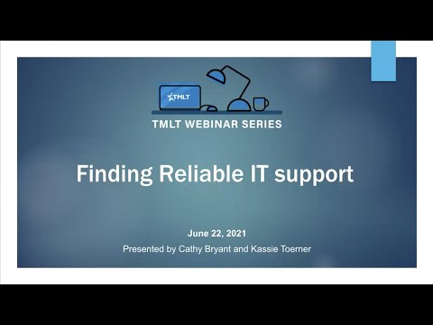 Finding reliable IT support