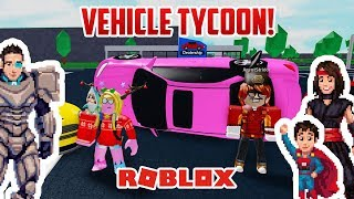 Roblox: VEHICLE TYCOON! Cars for Kids!