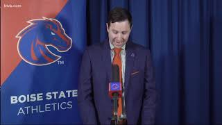 Watch live: Boise State introduces Andy Avalos as the football program's next head coach