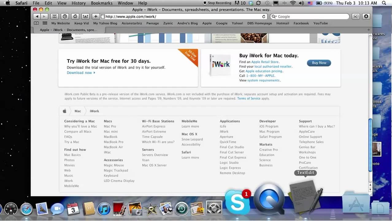 download iwork free