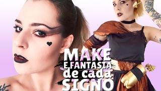 MAKE E FANTASIA DE CADA SIGNO (PARA O CARNAVAL)