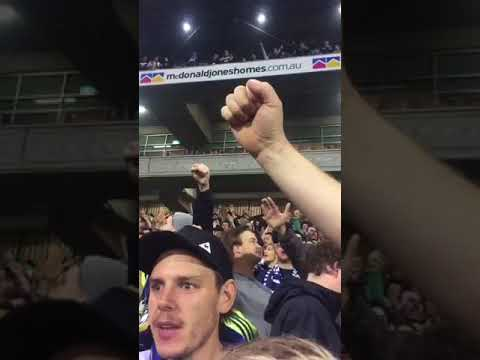 MELBOURNE VICTORY FANS AT GRAND FINAL 2018 IN NEWCASTLE