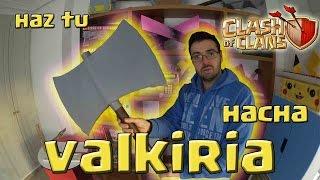 HAZ EL HACHA DE VALKIRIA DE CLASH OF CLANS DE CARTON! - Dcrafting