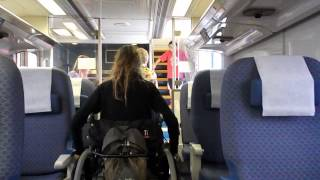 Wheelchairs get on amtrak