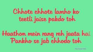 Jiya Re (Lyrics HD) - Jab Tak Hai Jaan (2012) | Ft. Neeti Mohan Full Song