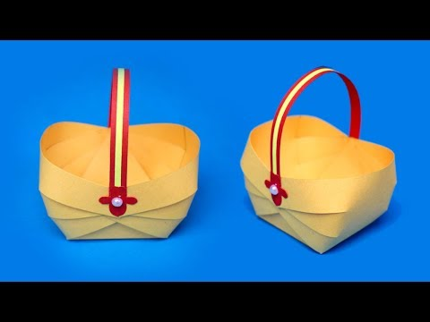 How to make a Paper Basket for Easter 2019 | Easy Paper Crafts | Easter Basket Ideas
