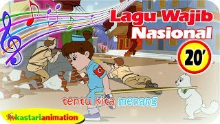 Download lagu Lagu Wajib Nasional Indoneisa Raya 20 menit bersama Diva Animasi Anak Kastari Animation MP3