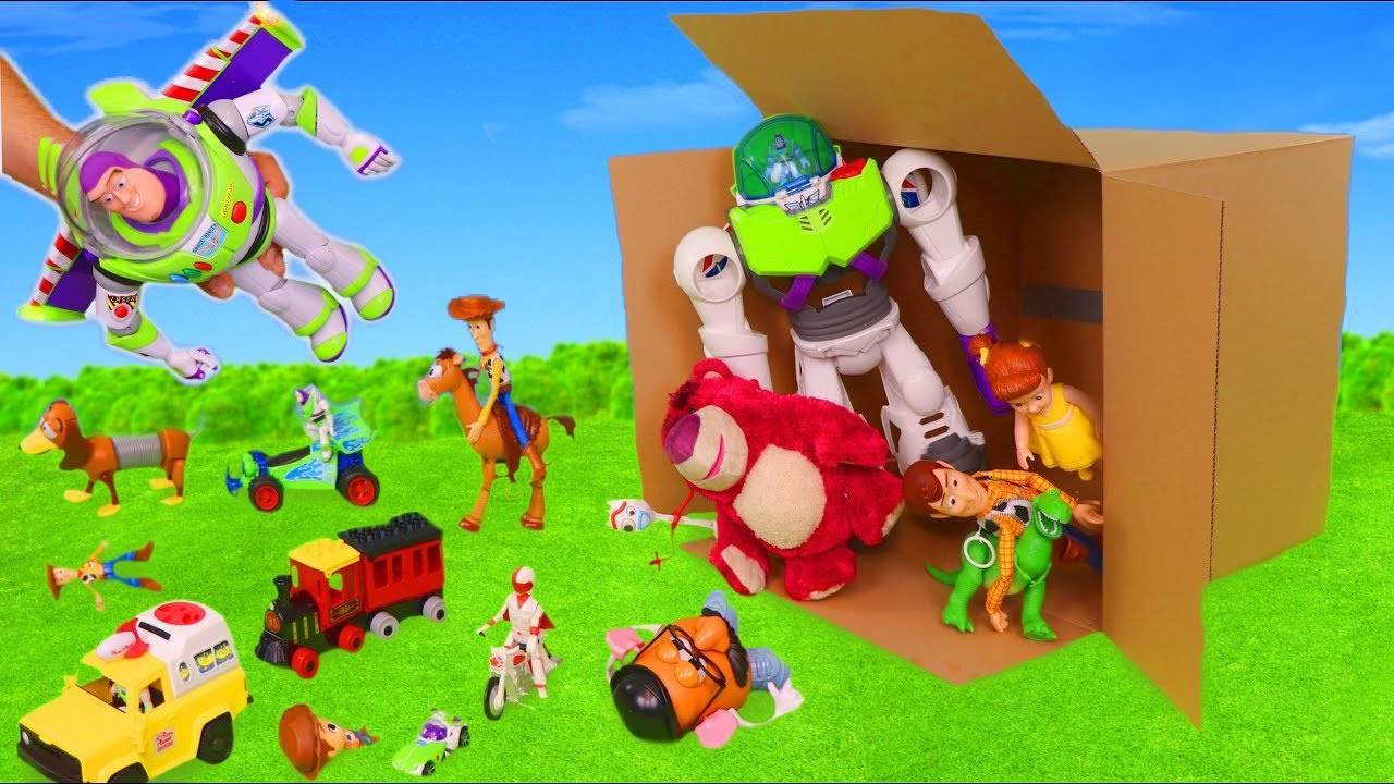 Download Toy Story 4 Surprise Toys: Buzz Lightyear, Forky & Woody Toy Vehicles for Kids