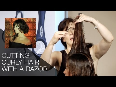 How to Cut Curly Hair With Feather Styling Razor