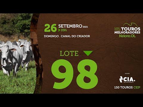 LOTE 98 - LEILÃO VIRTUAL DE TOUROS 2021 NELORE OL - CEIP