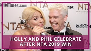 This Morning's Holly and Phil celebrate after NTA 2019 win