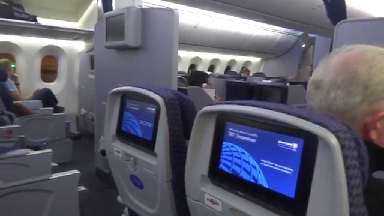 inside united airlines boeing 787 8 dreamliner youtube