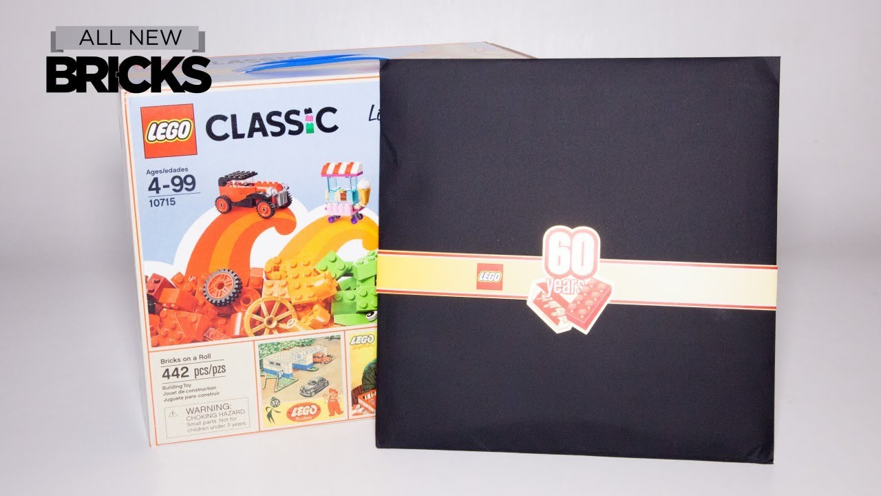 Lego Classic Limited Edition Bricks on a Roll with 60th Anniversary Booklet Lego Speed Build