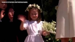 WATCH: Prince George, Princess Charlotte at Prince Harry and Meghan Markle's wedding
