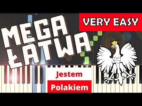 🎹 Jestem Polakiem - Piano Tutorial (MEGA ŁATWA wersja) 🎹