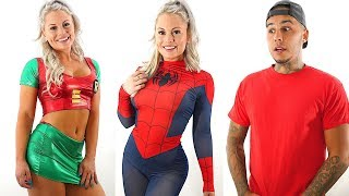 Trying On SPECIAL HALLOWEEN COSTUMES For My BOYFRIEND!