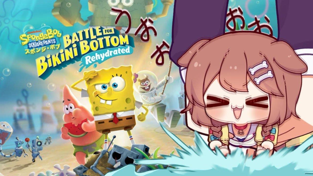 [SpongeBob]Clear the action game of SpongeBob!  !![Holo Live / Inugami Korone]