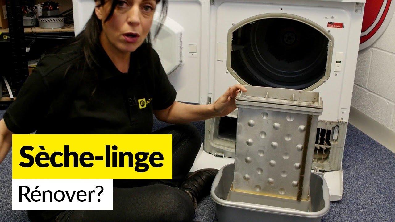 comment entretenir et r nover un s che linge condensation youtube. Black Bedroom Furniture Sets. Home Design Ideas