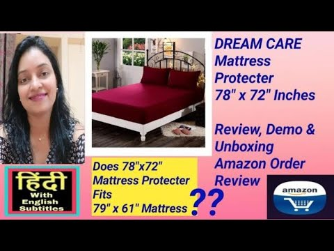 dream-care-mattress-protecter-review-unboxing-and-demo-amazon-order-review-in-hindi